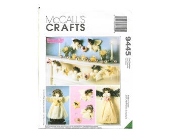 McCalls 9445 Crafts Angel Holiday Decorations Tree Topper Wall Hanging Ornament