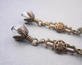 Bridal Earrings - Crystal Clear - Art Deco Jewelry