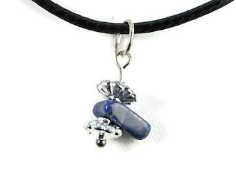 Lapis lazuli pendant necklace whimsical bohemian jewelry blue natural gemstone jewelry bohemian hippie necklace hippie whimsical pendant zai