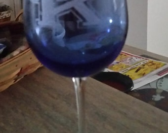 Kentucky Wine Glass, KY Fan Glass