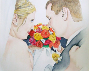 16 x 20 Custom Watercolor Portrait