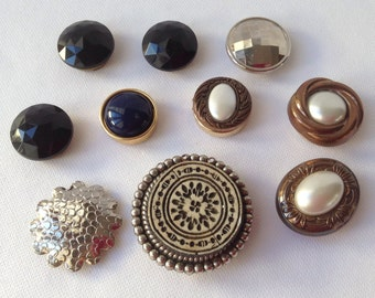 Lot of 10 Button Covers (4 are Nony)