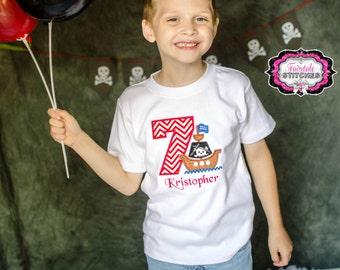 Pirate Shirt, Pirate Birthday Shirt, Boy Birthday Shirt, Birthday Shirt
