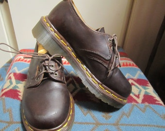 Childrens Doc Marten Brown Oxfords Size US 12 Made In England
