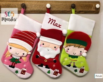 Christmas Stocking, Personalized, Christmas, Stocking, Christmas Stockings, Stockings, Embroidered Stocking, Family Stockings, Personalised