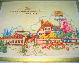 Vintage Thatched Cottage and Garden Calendar from 1960