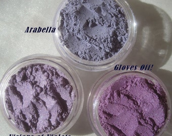 Purple Mineral Eye Shadows Makeup Gift | 6 Piece Gift Set | Loose Pigments Cruelty-free | Vegan Mineral Eyeshadows | Teens Gift | Mom's Gift