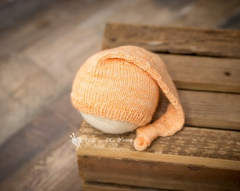 Knotted Nightcap - READY TO SHIP - newborn photo prop