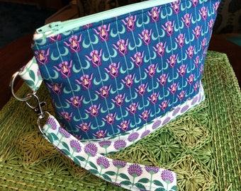 Medium Knitting Bag, Project Bag, Zippered Crochet Bag, Zipper Project Bag, Sock Knitting Bag, Sock Project Bag