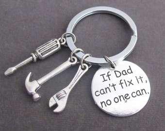 If Dad Can't Fix it No One Can Hand tools Keychain,Daddy Keyring,Gift for Dad,Dad Gift,Fathers Day,Father Keychain,Free Shipping In USA