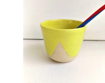 Cup w / / yellow