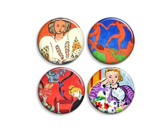 Matisse - pinback badge buttons or magnets 1.5""