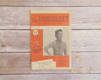 Crochet Owl DIY Gift Instructions 50s Sewing Magazine Workbasket 1955 Retro Projects Knit Swirling Hexagon Pan Holder Day in the Life 1950s