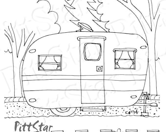 happy camper coloring pages - photo#21