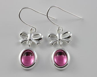 October birthstone Swarovski Rose drop earrings