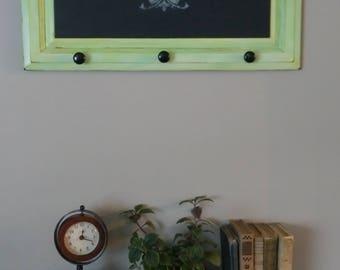 Mad Charlotte-Green Entryway Chalkboard-Farmhouse Decor- Shabby Chalkboard-Distressed Chalk Paint