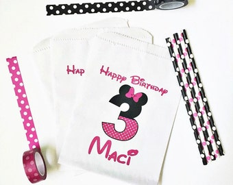 Minnie Mouse Birthday   Minnie Mouse Favor Bags   Minnie Mouse 1st Birthday Party   Minnie Birthday Favors   Minnie Birthday Decorations