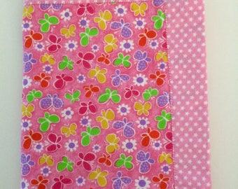 Pink Flannel Blanket, Baby Girl Shower Gift, Perfect Receiving Blanket, New Baby Gift, Handmade