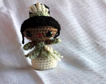 Handmade Disney's Tiana Crochet Amigurumi Doll