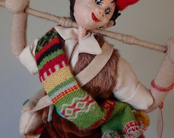 1950's original Klumpe souvenir doll - Shepherd