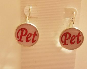 Pink BDSM Pet Earrings