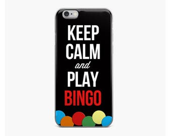 Keep Calm and Play Bingo iPhone Case, Custom Phone Case iPhone 5/iPhone 6/6s, iPhone 6plus, iPhone 7