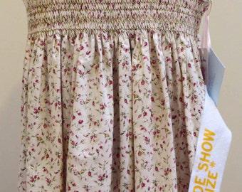 Girls Summer Dress, Hand Smocked, Hand Embroidered, Floral, Sleeveless Dress
