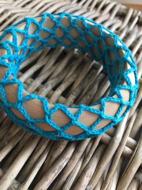 Boho Chic Wide Crochet Bangle Bracelet Hippie Bohemian Jewelry Chunky Stack Bracelet Girlfriend Mothers Day