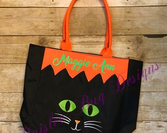 Personalized Trick or Treat Bag, Personalized Halloween Bag, Personalized Candy Bag