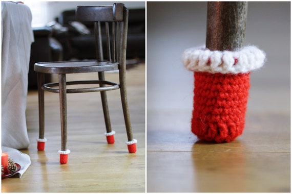 Christmas Decoaration Chair Socksred Chair Coversfloor