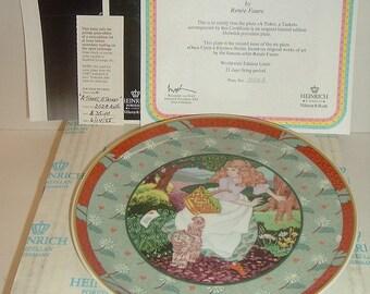 1985 Heinrich W Germany Villeroy and Boch A Tisket A Tasket Plate w Box COA