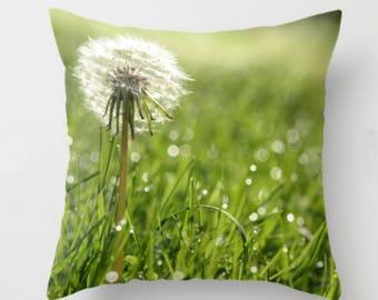Dandelion Flower Pillow Cover