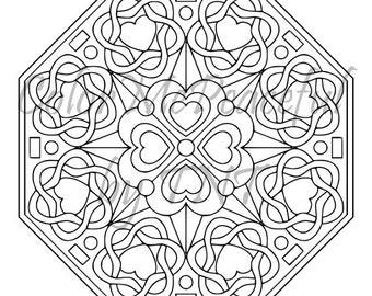 Mandala Adult Coloring Page - Mellow Mandalas, Volume 1, Page 19 | Printable Instant Download