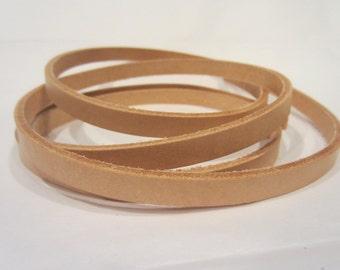 "3/8"" or 1/2""  Genuine Leather Strips, Natural Vachetta Strap, Leather Strip Strap, Leather Strapping"