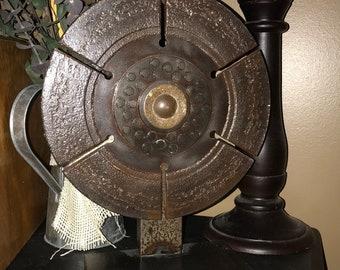 Metal sculpture, home interior, steel art, round metal sculpture
