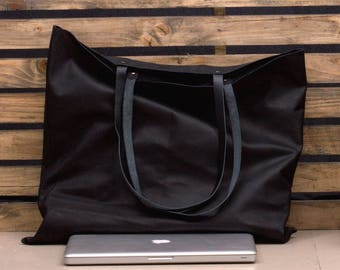 Large Leather Tote - Leather Tote Bag - Soft Leather Bag - Leather Handbag - Shopping Bag - Ladies Leather Bag - Laptop Tote - Tote Bag