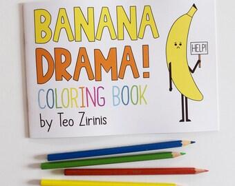 Banana Drama A5 Adult Coloring Book