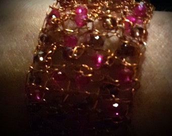 Copper color Aluminum wire Bracelet #triescrea # creatine #