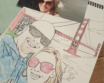 Custom Coloring Book. Turn your favorite photos into a coloring book!