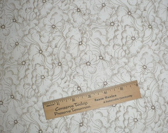 Stars, Clouds, Off white, Tan, OOP, 1/2 YARD, Blender, Vintage Fabric, Quilting, Sewing, BTHY
