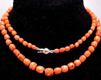 Italian coral necklace naturale