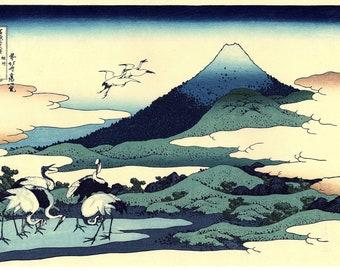 "Japanese Ukiyo-e Woodblock print, Hokusai, ""Umegawa in Sagami Province, Thirty-six Views of Mount Fuji"""
