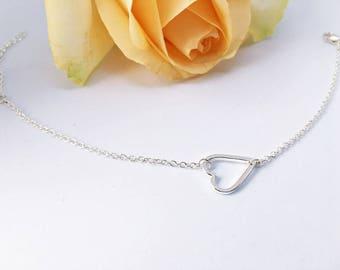 Silver heart arm chain: Friendship Bracelet