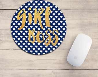GIRL BOSS mouse pad/girl boss mousepad/girl boss/desk accessory/cute mousepad