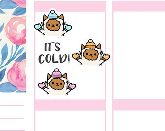 Winter, Cold, Snow Cats | Planner Stickers |