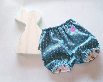 Bloomer shorts Reversible baby cotton printed swallow, trees, bloomers