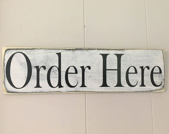 Very best Order here sign | Etsy GB31