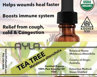 Organic Tea Tree Essential Oil 15ml