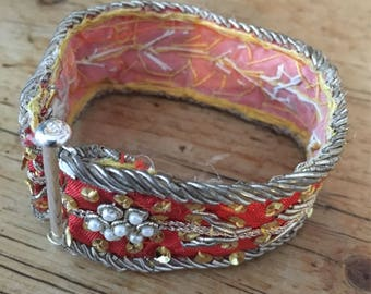 Vintage Indian Ribbon Bracelet