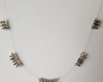 Faced Silver Discs Necklace